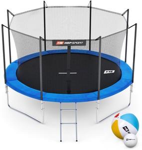 Hop-Sport Trampolína Hop-Sport 10ft (305cm) modrá s vnitřní ochrannou sítí - 4 podpůrné tyče