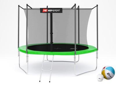Hop-Sport Trampolína Hop-Sport 10ft (305cm) zelená s vnitřní ochrannou sítí + žebřík