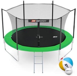 Hop-Sport Trampolína Hop-Sport 10ft (305cm) zelená s vnitřní ochrannou sítí - 3 podpůrné tyče