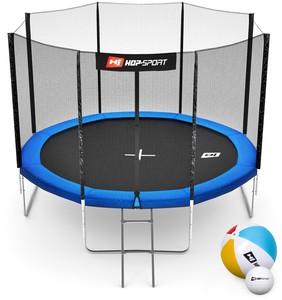 Hop-Sport Trampolína Hop-Sport 10ft (305cm) modrá s vnější ochrannou sítí - 4 podpůrné tyče