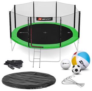 Hop-Sport Trampolína Hop-Sport 14ft (427cm) zelená s vnější ochrannou sítí