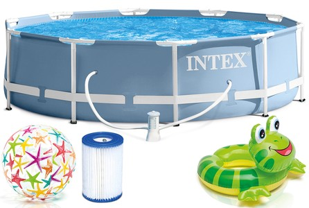 Intex Bazén INTEX 28712 PRISM FRAME 366 X 76 CM s čerpadlem