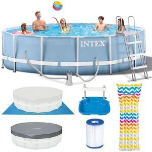 Intex Bazén 26736 Intex Prism Frame 457 x 122 cm s pumpičkou, žebříkem, podložkou a krytem