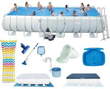 Intex Bazén 26362 Intex Ultra Frame 732x366x132 cm s pumpičkou, žebříkem, podložkou а krytem