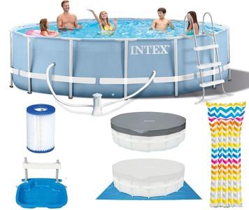 Intex Bazén INTEX 26728 PRISM FRAME 457 X 84 CM s pumpou, žebříkem, krytem a podložkou