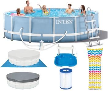 Intex Bazén 26734 Intex Prism Frame 457 x 107 cm s pumpičkou + žebříkem + podložkou + krytem