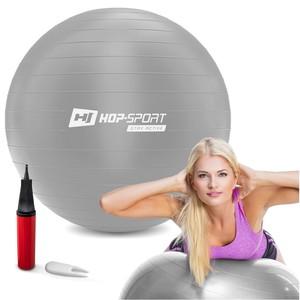 Gymnastický míč fitness 45cm - stříbrný
