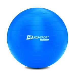 Gymnastický míč fitness 65cm s pumpou - modrý