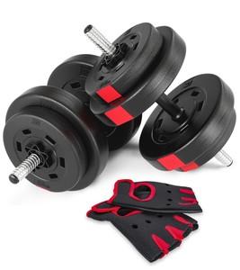 Hop-Sport Jednoruční nakládací činkový set Hop-Sport 2x15kg PRO + rukavice