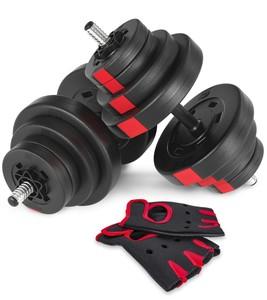 Hop-Sport Jednoruční nakládací činkový set Hop-Sport 2x20kg PRO + rukavice