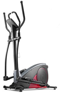 Hop-Sport Elektromagnetický eliptický trenažér HS-060C Blaze červený + podložka