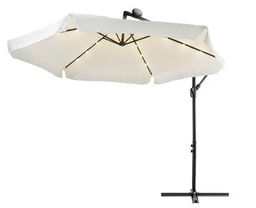 Levně Zahradní slunečník EMPOLI s LED osvětlením - Krémový