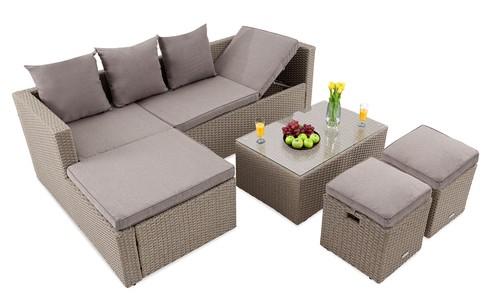 Zahradní nábytek BOLOGNA Béžovo / šedý
