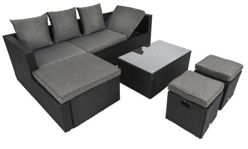 Zahradní nábytek BOLOGNA Černo / šedý