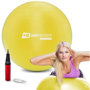 Levně Gymnastický míč 70cm s pumpou - žlutý