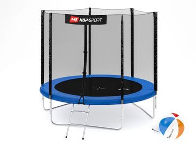 Hop-Sport Trampolína Hop-Sport 8ft (244cm) s venkovní ochrannou sítí + žebřík