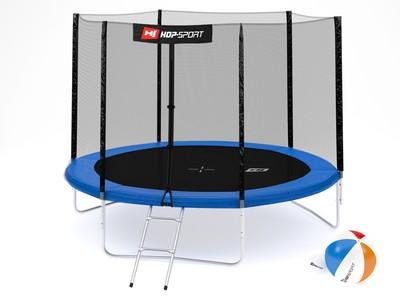 Hop-Sport Trampolína Hop-Sport 10ft (305cm) s venkovní ochrannou sítí + žebřík