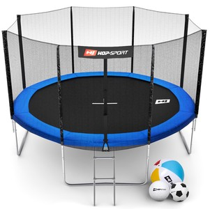 Hop-Sport Trampolína Hop-Sport 12ft (366cm) s vnější ochrannou sítí + žebřík