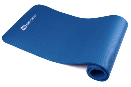 Hop-Sport Podložka na jógu HS4264 modrá 1 cm
