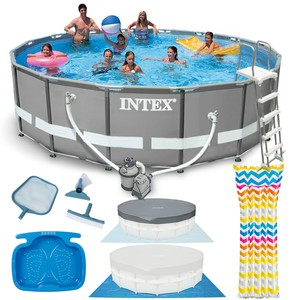 Intex Bazén Intex 26324 Ultra Frame 488 x 122 cm s pumpou, žebříkem, podložkou a krytem
