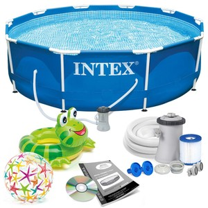 Intex Bazén 28212 Intex Metal Frame 366 x 76 cm s pumpou