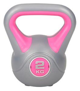 Hop-Sport Činka jednoruční Kettlebell vinylová 2 kg