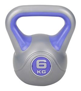 Hop-Sport Činka jednoruční Kettlebell vinylová 6 kg