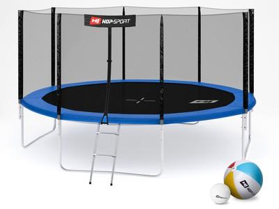 Hop-Sport Trampolína Hop-Sport 14ft (427cm) s venkovní ochrannou sítí + žebřík
