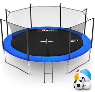 Hop-Sport Trampolína Hop-Sport 14ft (427cm) s vnitřní ochrannou sítí + žebřík