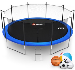 Hop-Sport Trampolína Hop-Sport 16ft (488cm) s vnitřní ochrannou sítí + žebřík