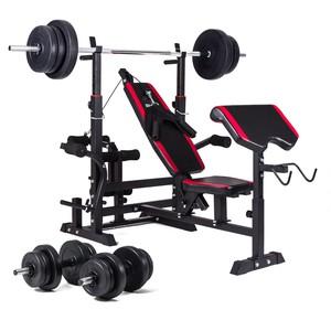 Hop-Sport Nakládací činkový set Premium 42kg + lavice HS-1075