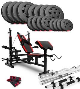 Hop-Sport Nakládací činkový set Premium 93kg + lavice HS-1075