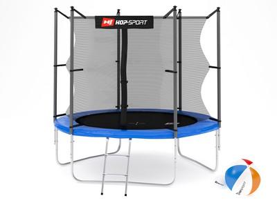 Hop-Sport Trampolína Hop-Sport 8ft (244cm) s vnitřní ochrannou sítí + žebřík