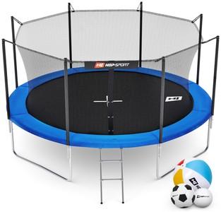 Hop-Sport Trampolína Hop-Sport 12ft (366cm) s vnitřní ochrannou sítí + žebřík