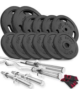 Hop-Sport Nakládací činkový set Strong 79kg